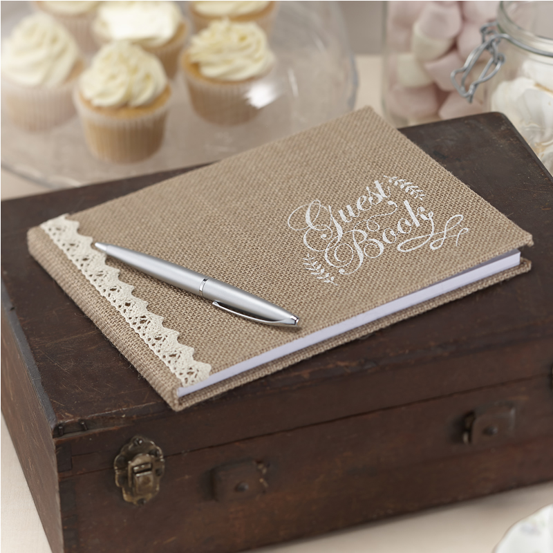 Buy Vintage Affair - Hessian Guest Book Ginger Ray