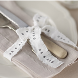 Vintage Affair - Frayed Ribbon with Mr & Mrs