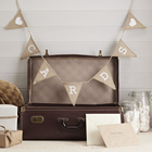 Vintage Affair - Cards Hessian Bunting