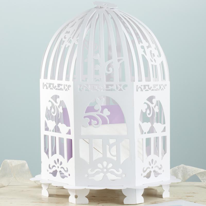 vintage lace birdcage card holder ginger ray. Black Bedroom Furniture Sets. Home Design Ideas