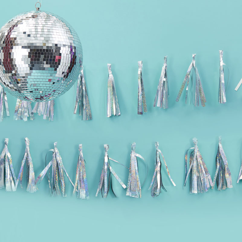 Good Vibes Iridescent Follow The Call Of The Disco Ball Bunting