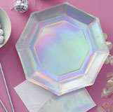 Iridescent Party - Foiled Plate