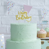 Pick & Mix - Candles - Happy Birthday - Gold