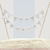 Vintage Lace - Just Married Cake Bunting
